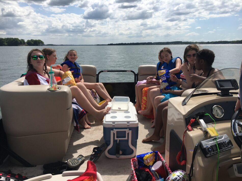 Kids birthday party on the lake with Party Pontoon boat rentals.