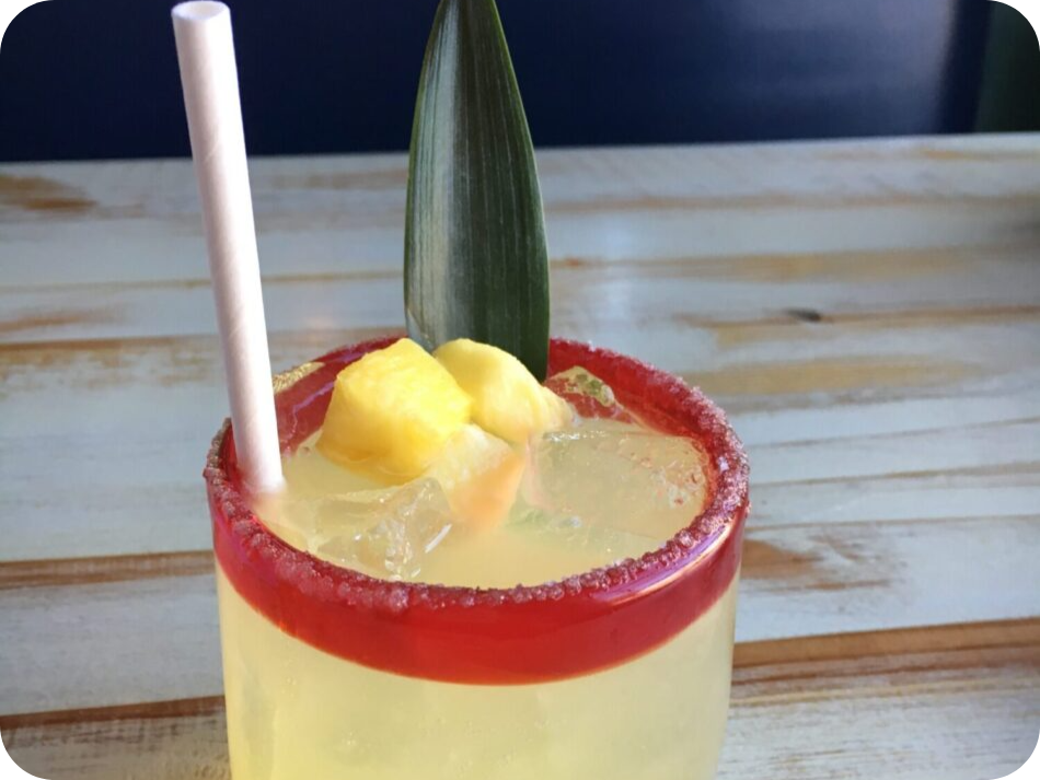 A delicious cocktail to enjoy on the bar hopping charter.